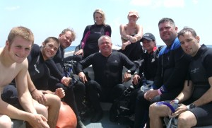 Leslie training divers- Cozumel, June 2011