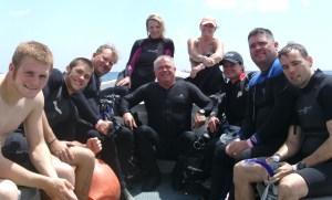 Leslie training divers- Cozumel, June 2011